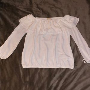 Michael kors white blouse size- medium